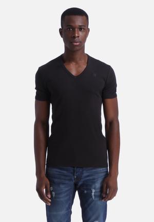 G-Star RAW Base V-Neck T-Shirt 2-Pack  Black