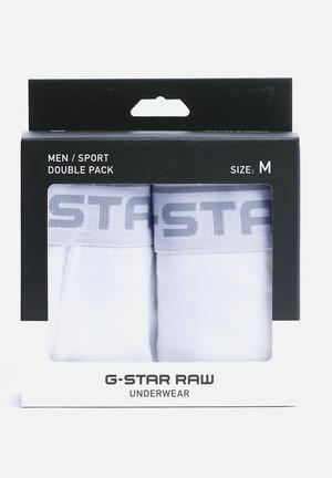 G-Star RAW Sport Trunk 2 Pack Underwear White