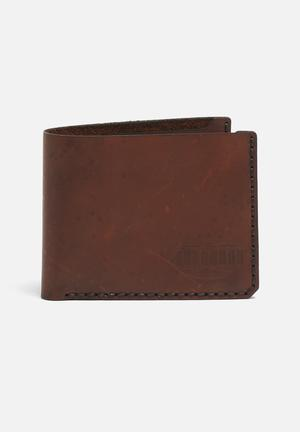 Burgundy Bifold Wallet Dark Brown