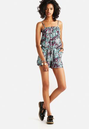 ONLY Choice Playsuit Multi Coloured Leopard Print