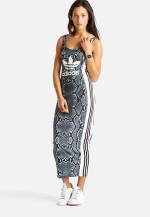 La Print Long Dress
