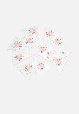 Ginger Ray Floral Bunting Partyware