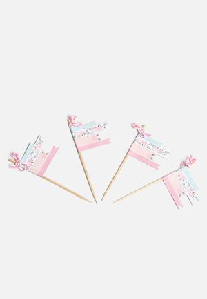 Ginger Ray Floral Cupcake Picks Partyware