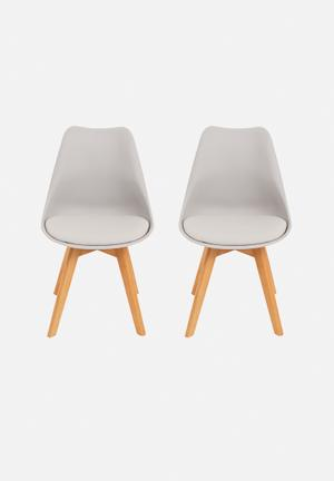 Eleven Past Set Of 2 Levi Chairs Grey