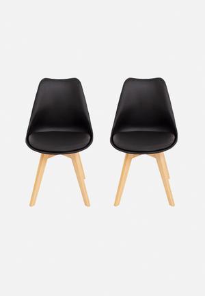 Eleven Past Set Of 2 Levi Chairs Black