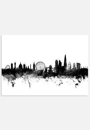 ArtPause London England Skyline Art
