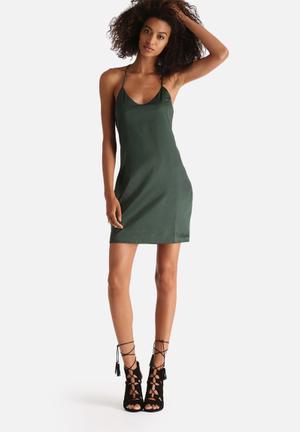 Salina Satin Slip Dress