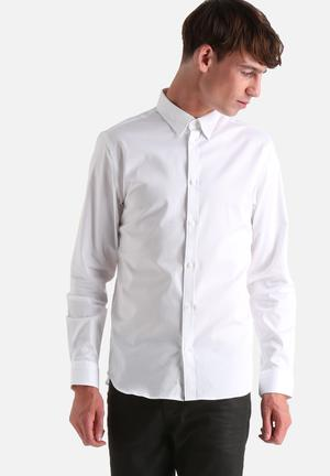 Selected Homme Travis Slim Shirt White