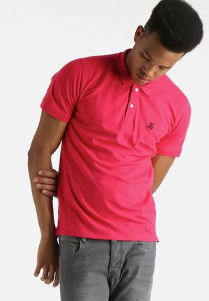 Selected Homme Embroidery Polo Shirt T-Shirts & Vests Pink