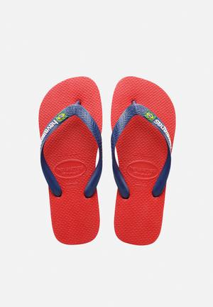 Havaianas Men's Brazil Sandals & Flip Flops Red