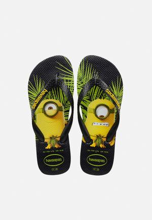 Havaianas Men's Minions Sandals & Flip Flops Black