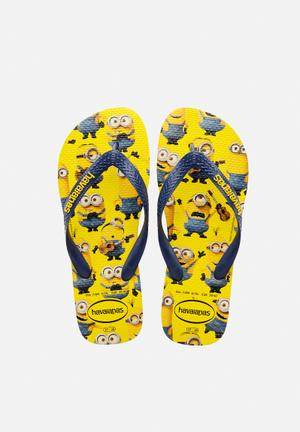 Havaianas Men's Minions Sandals & Flip Flops Yellow / Navy Blue