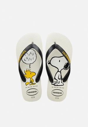 Havaianas Men's Snoopy Sandals & Flip Flops White / Black
