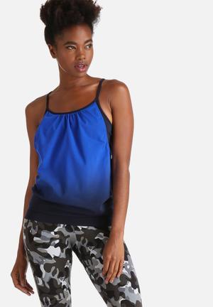 ONLY Play Tara Seamless Training Top T-Shirts Electric Blue & Black