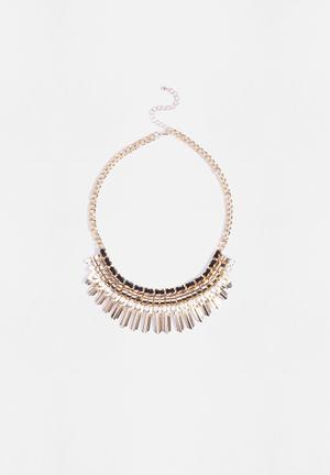 Vero Moda Lerke Necklace Jewellery Pale Gold