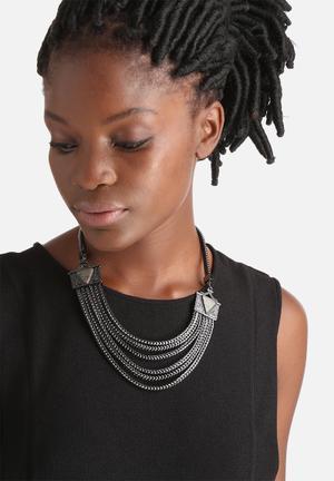 Vero Moda Crista Necklace Jewellery Gunmetal