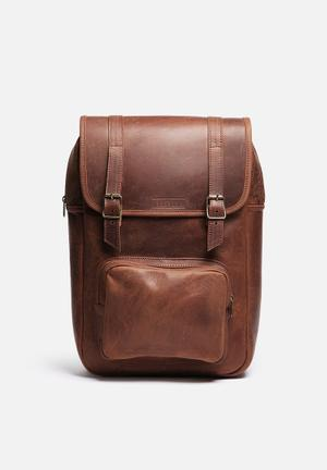 Burgundy Laptop Backpack Bags & Wallets Brown