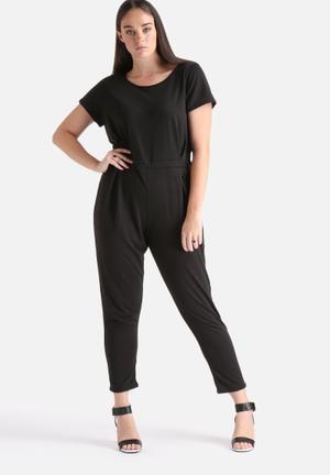 Lili London Scoop Neck Jumpsuit Black