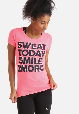 ONLY Play Emmy Fitted Tee T-Shirts Pink