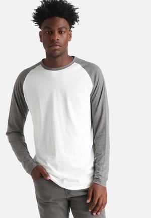 Jack & Jones Originals Stans Tee T-Shirts & Vests Grey / White
