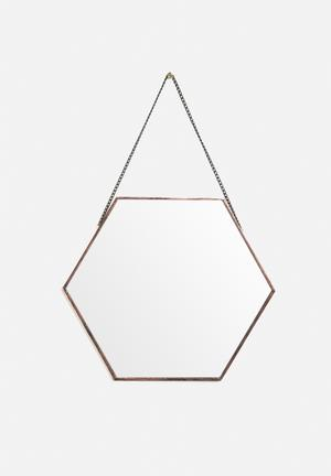 Arkivio Hexagonal Mirror Accessories