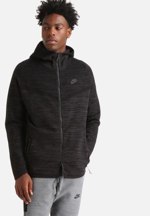Nike Tech Knit Windrunner Hoodies & Sweatshirts Black / Anthracite