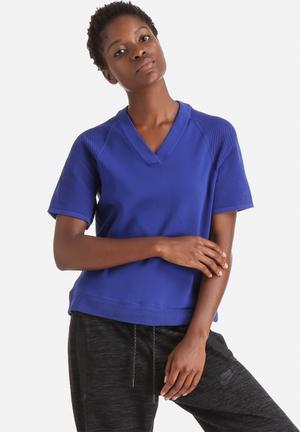 Nike Tech Knit Top T-Shirts Royal Blue
