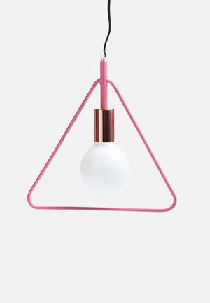 Sixth Floor Simple Triangle Pendant Lighting Pink