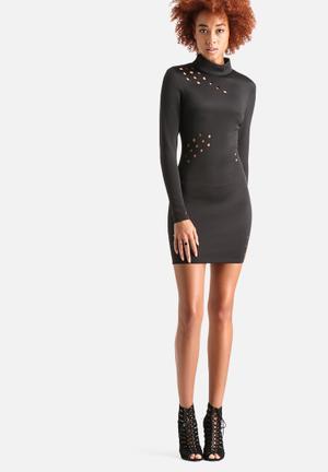 AX Paris Cut Out Hole Detail Bodycon Dress Occasion Black