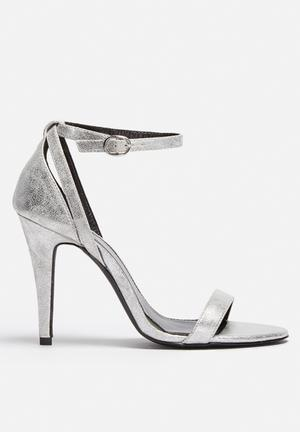 ONLY Artsy Heeled Sandal Silver