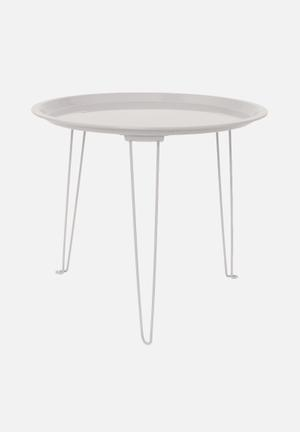 Present Time Side Table Tray Iron