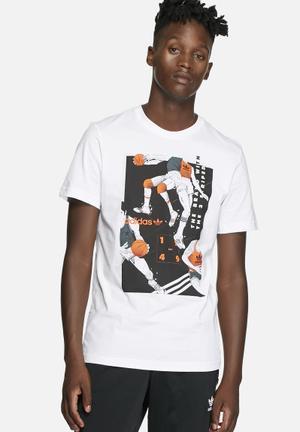 Adidas Originals Tongue Basketball Tee T-Shirts White