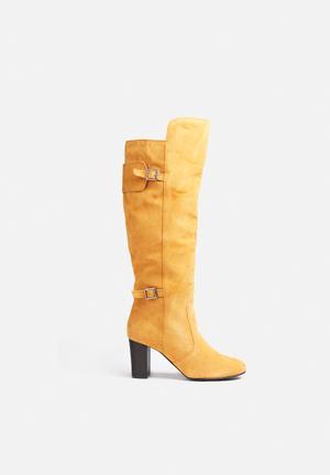 Vero Moda Kelly Leather Boot Cognac