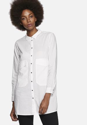 Noisy May Amie Boyfriend Shirt White