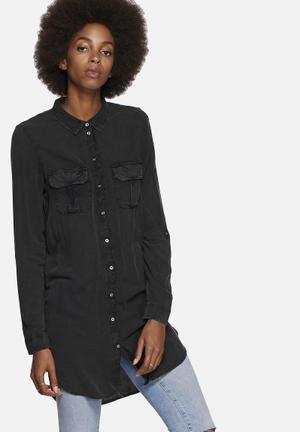 Noisy May Mano Long Shirt Black