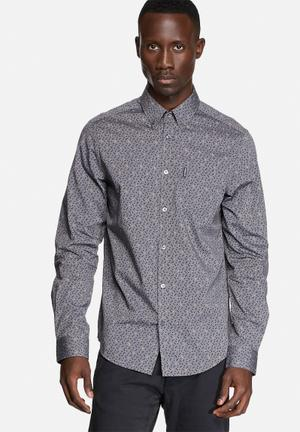 Ben Sherman Long Sleeve Shirt Concrete