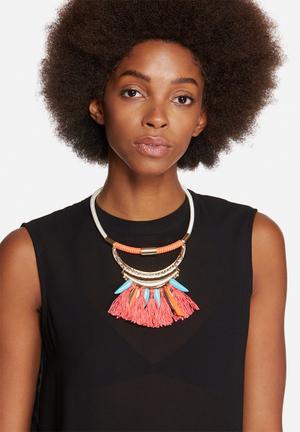 Vero Moda Nadine Necklace Jewellery Coral, Gold