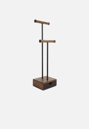 Umbra Pillar Jewellery Stand Organisers & Storage Wood / Metal