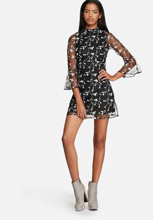 Motel Floral Lou Dress Casual Black