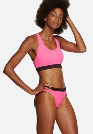 Marie Meili Seamless Sportwear Brief Panties Hot Pink