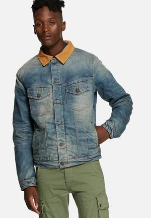 Jack & Jones Originals Alvin Lined Denim Jacket  Blue Denim
