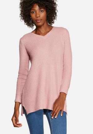 Pretty In Pink V-Neck Knit