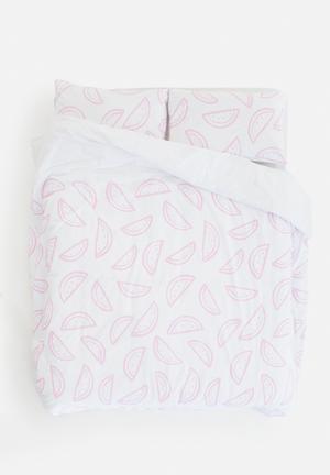 Zana X Superbalist Watermelon Duvet Cover Bedding 250TC Cotton Percale