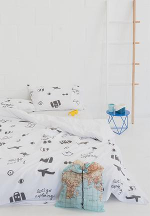 Zana X Superbalist Exploring Duvet Cover Bedding 250TC Cotton Percale