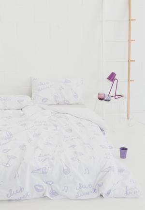 Zana X Superbalist 'Club Duvet' Duvet Cover Bedding 250TC Cotton Percale