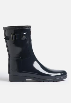 Hunter Original Refined Short Gloss Boots Navy