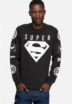 Jack & Jones Core Superman Sweat Hoodies & Sweatshirts Black