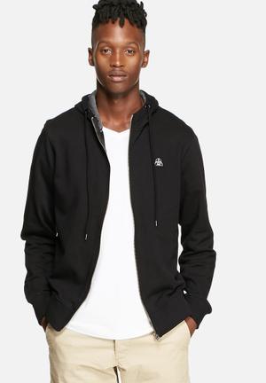 Jack & Jones Originals Darth Sweat Hood Hoodies & Sweatshirts Black