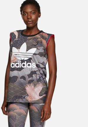 Adidas Originals Kimono Tee T-Shirts Multi