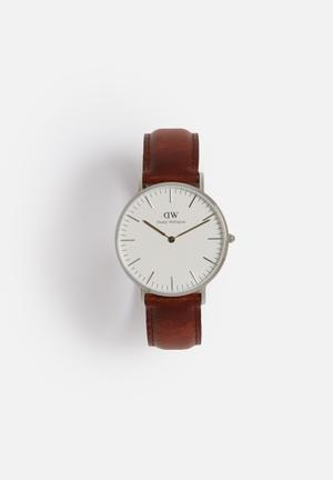 Daniel Wellington St Mawes Watches Silver & Brown